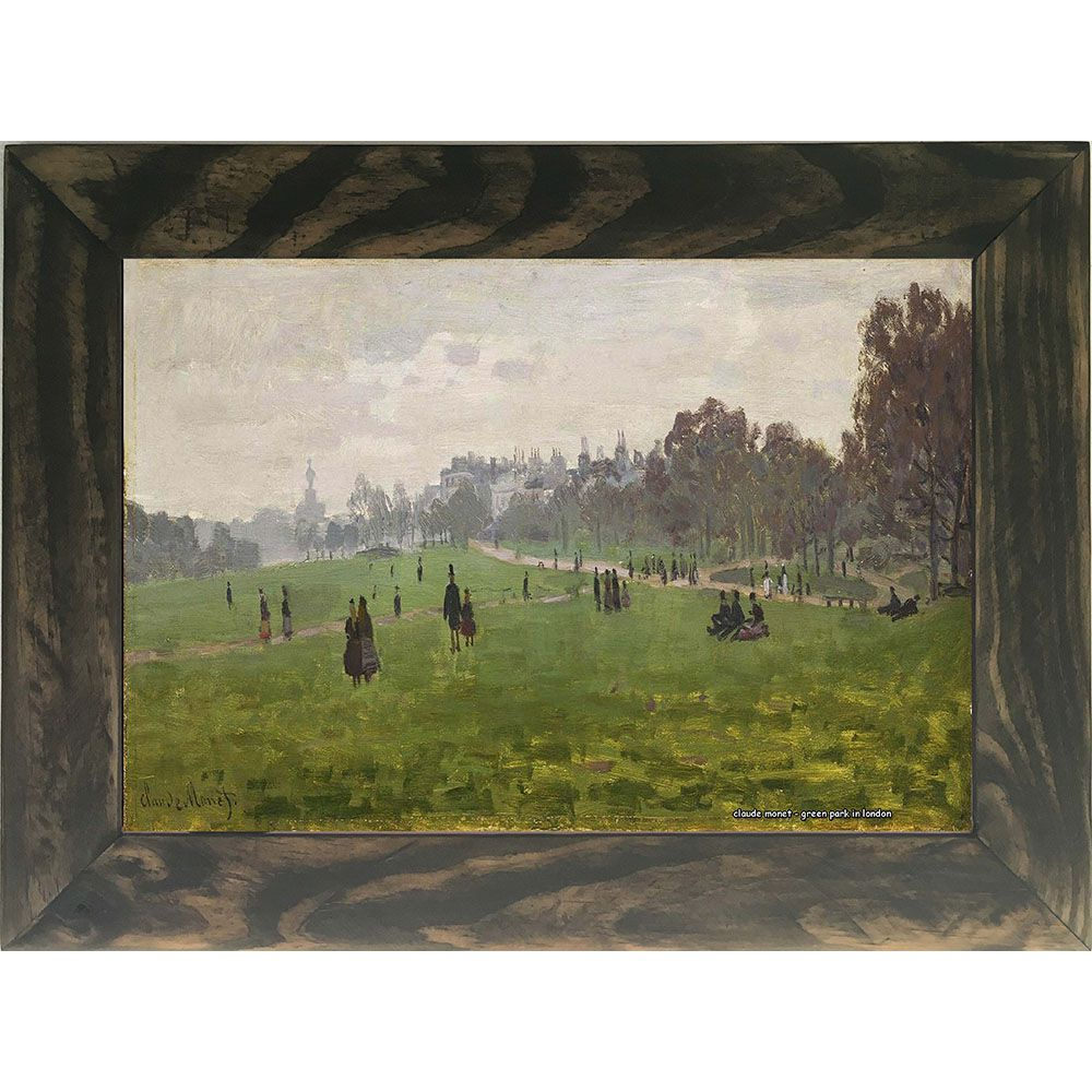 Quadro Decorativo A4 Green Park in London - Claude Monet Cosi Dimora