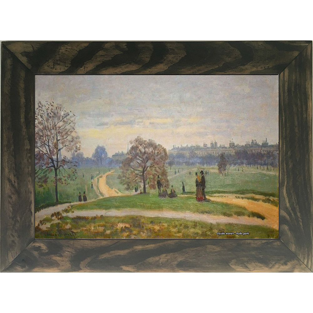 Quadro Decorativo A4 Hyde Park - Claude Monet Cosi Dimora