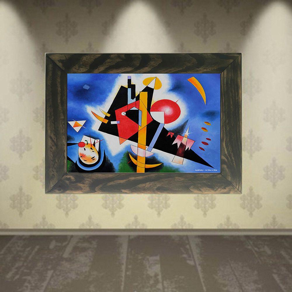Quadro Decorativo A4 In Blau in Blue - Kandinsky Cosi Dimora
