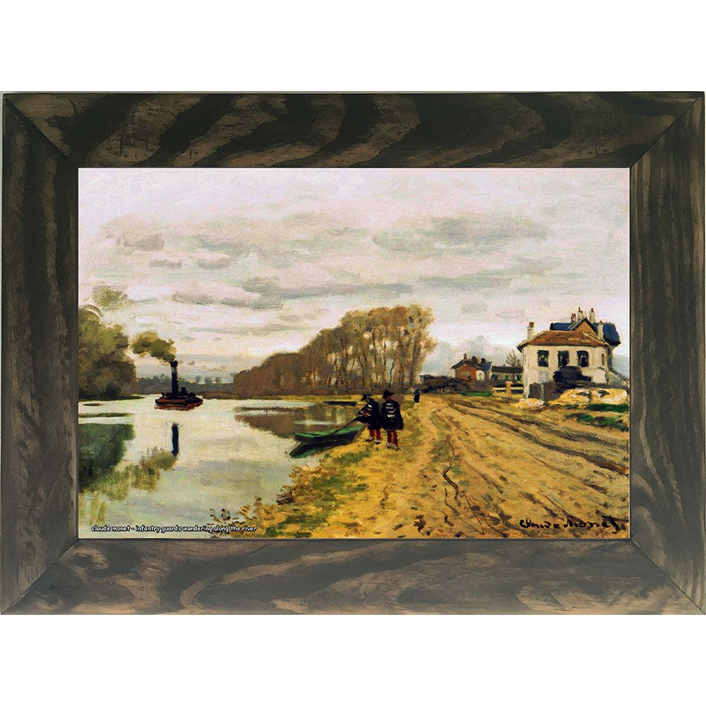 Quadro Decorativo A4 Infantry Guards Wandering Along the River - Claude Monet Cosi Dimora