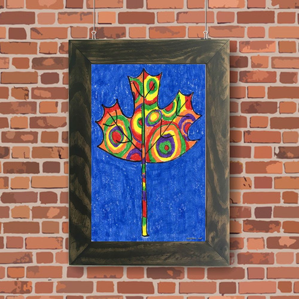 Quadro Decorativo A4 Leaf - Kandinsky Cosi Dimora