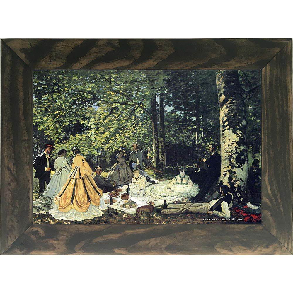 Quadro Decorativo A4 Lunch on the Grass - Claude Monet Cosi Dimora