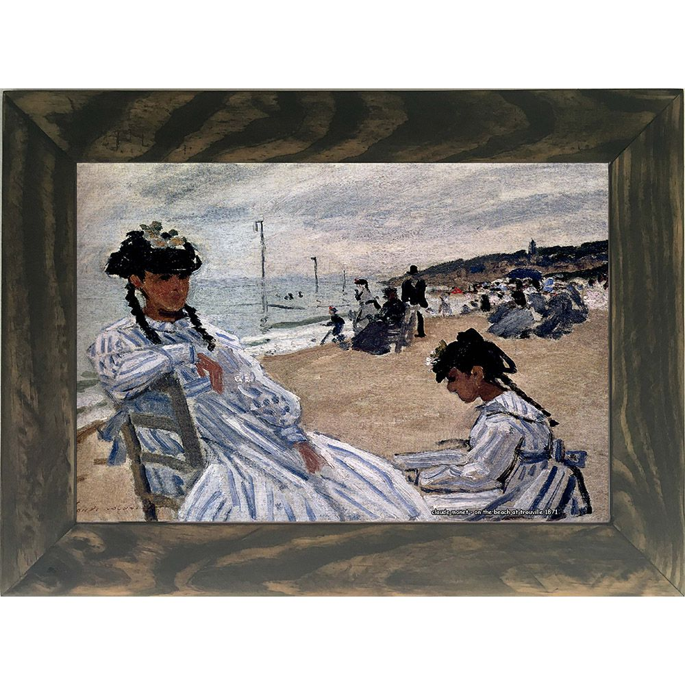 Quadro Decorativo A4 On the Beach at Trouville 1871 - Claude Monet Cosi Dimora