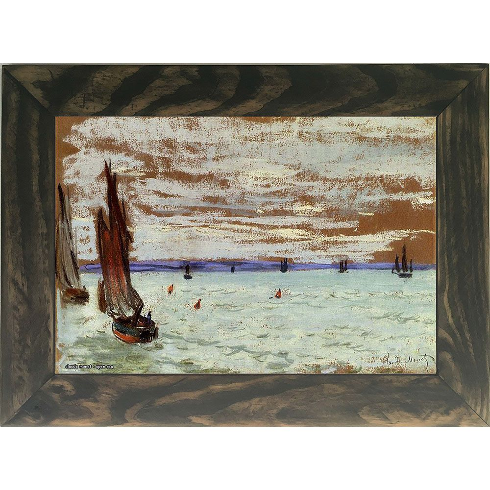 Quadro Decorativo A4 Open Sea - Claude Monet Cosi Dimora