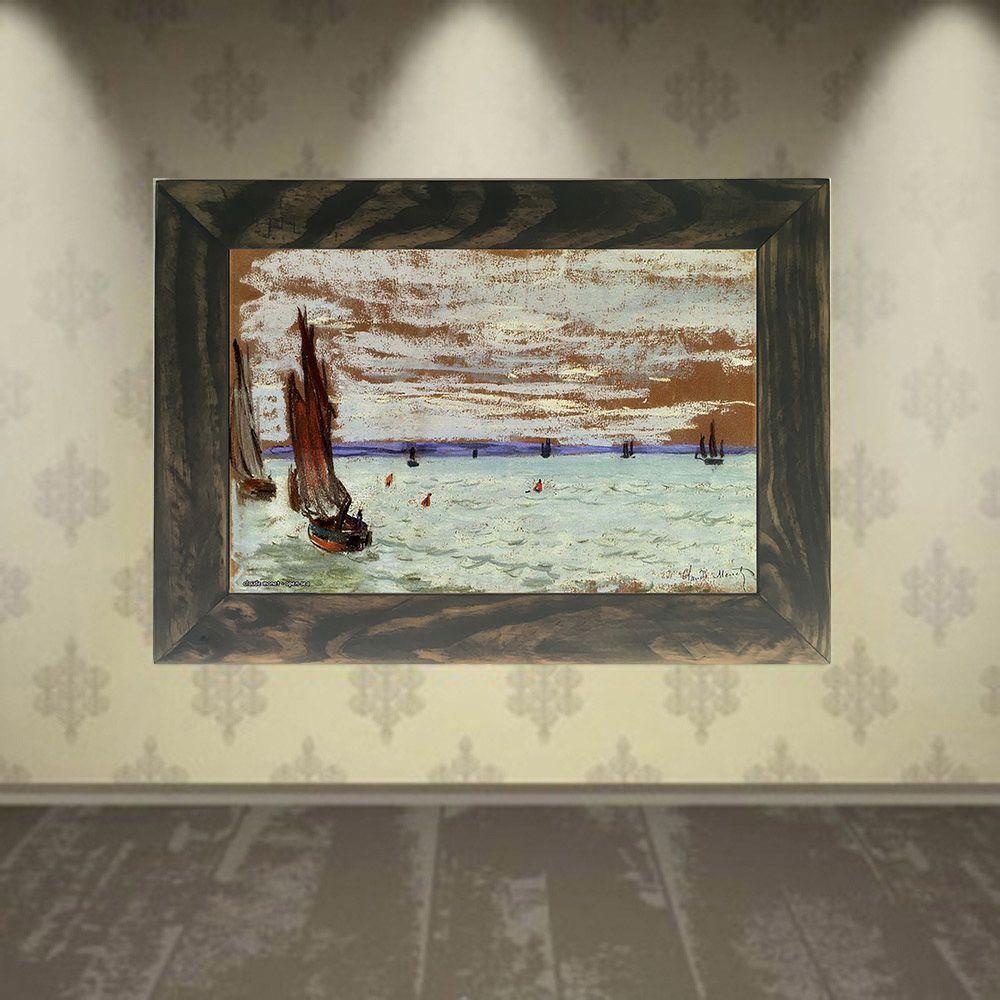 Quadro Decorativo A4 Open Sea - Claude Monet Cosi Dimora