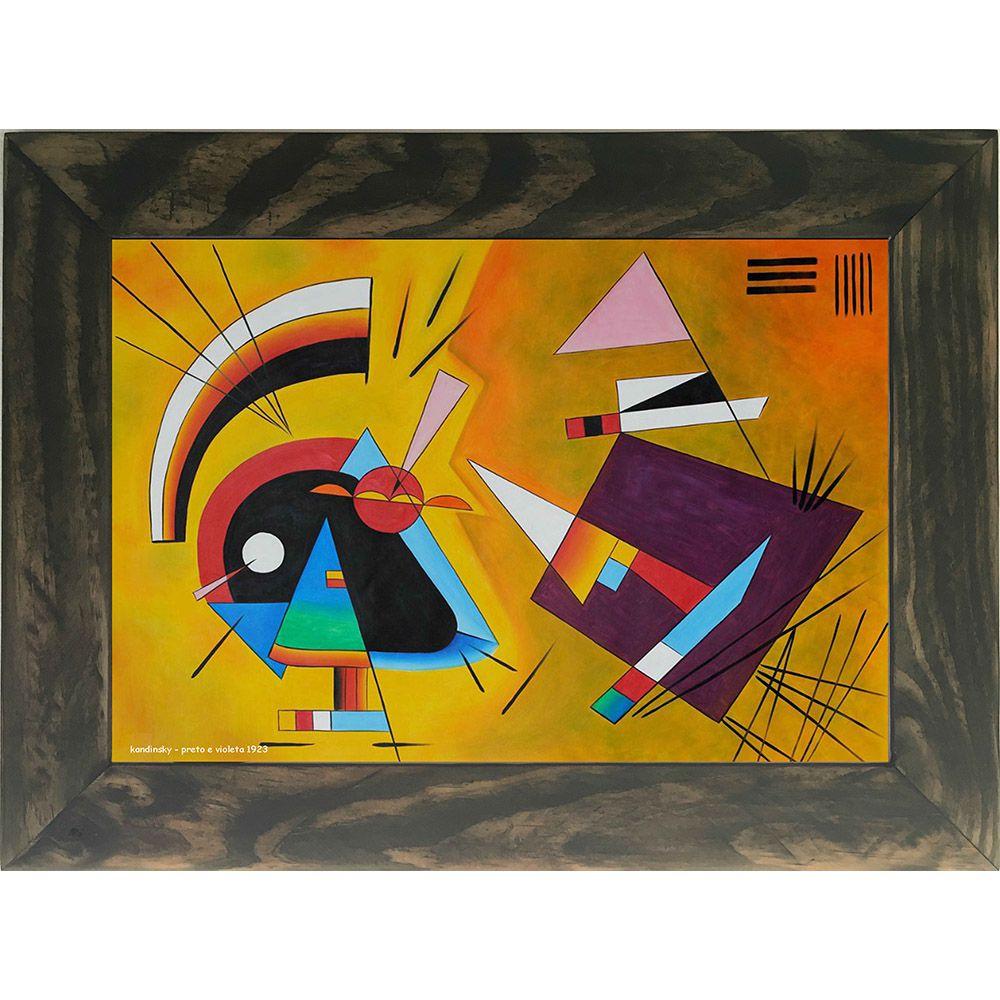 Quadro Decorativo A4 Preto e Violeta 1923 - Kandinsky Cosi Dimora