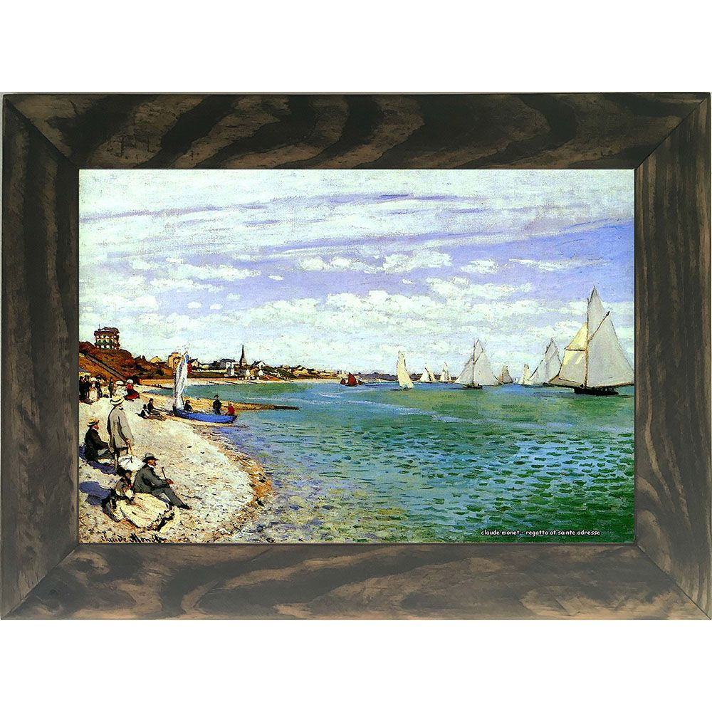 Quadro Decorativo A4 Regatta at Sainte Adresse - Claude Monet Cosi Dimora