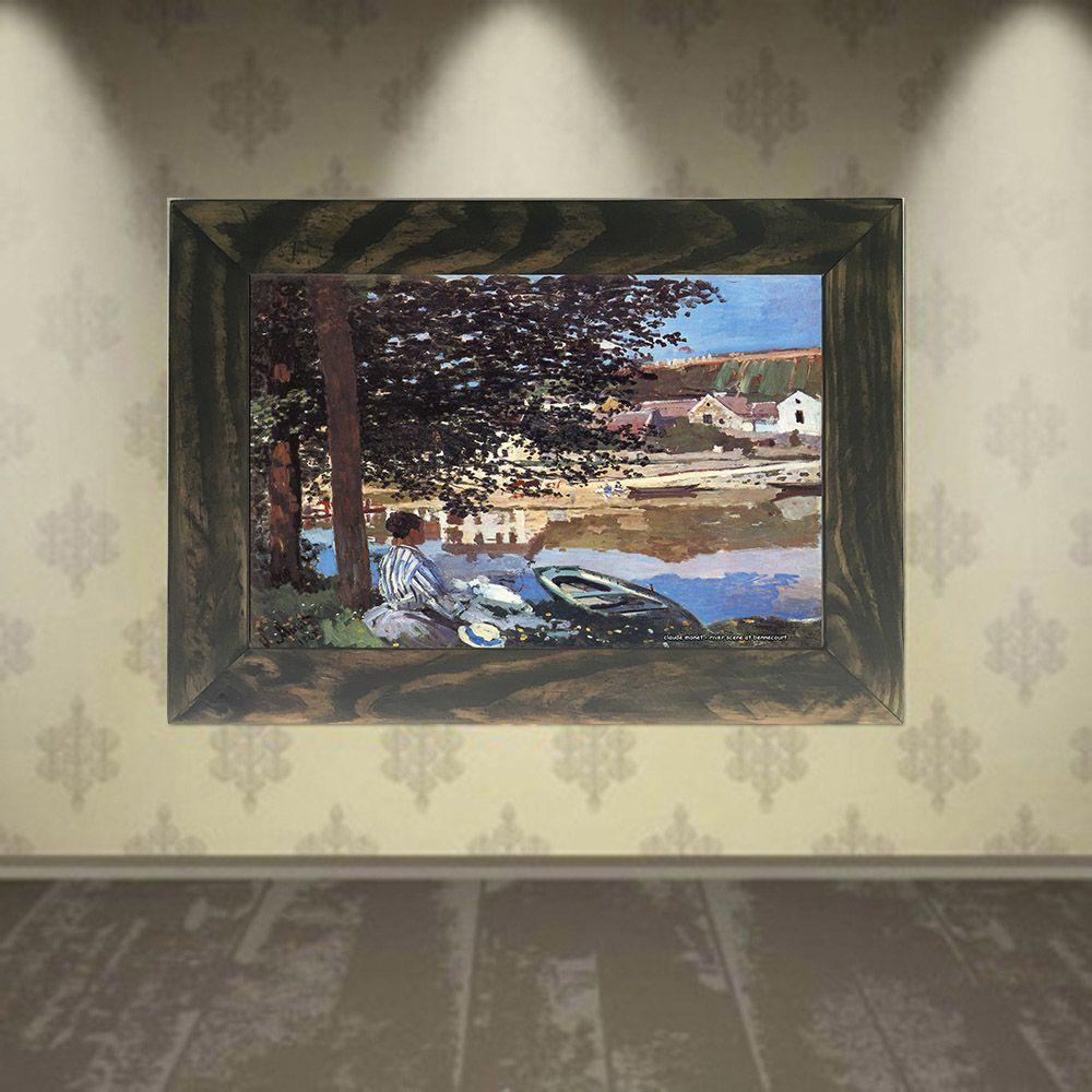 Quadro Decorativo A4 River Scene at Bennecourt - Claude Monet Cosi Dimora