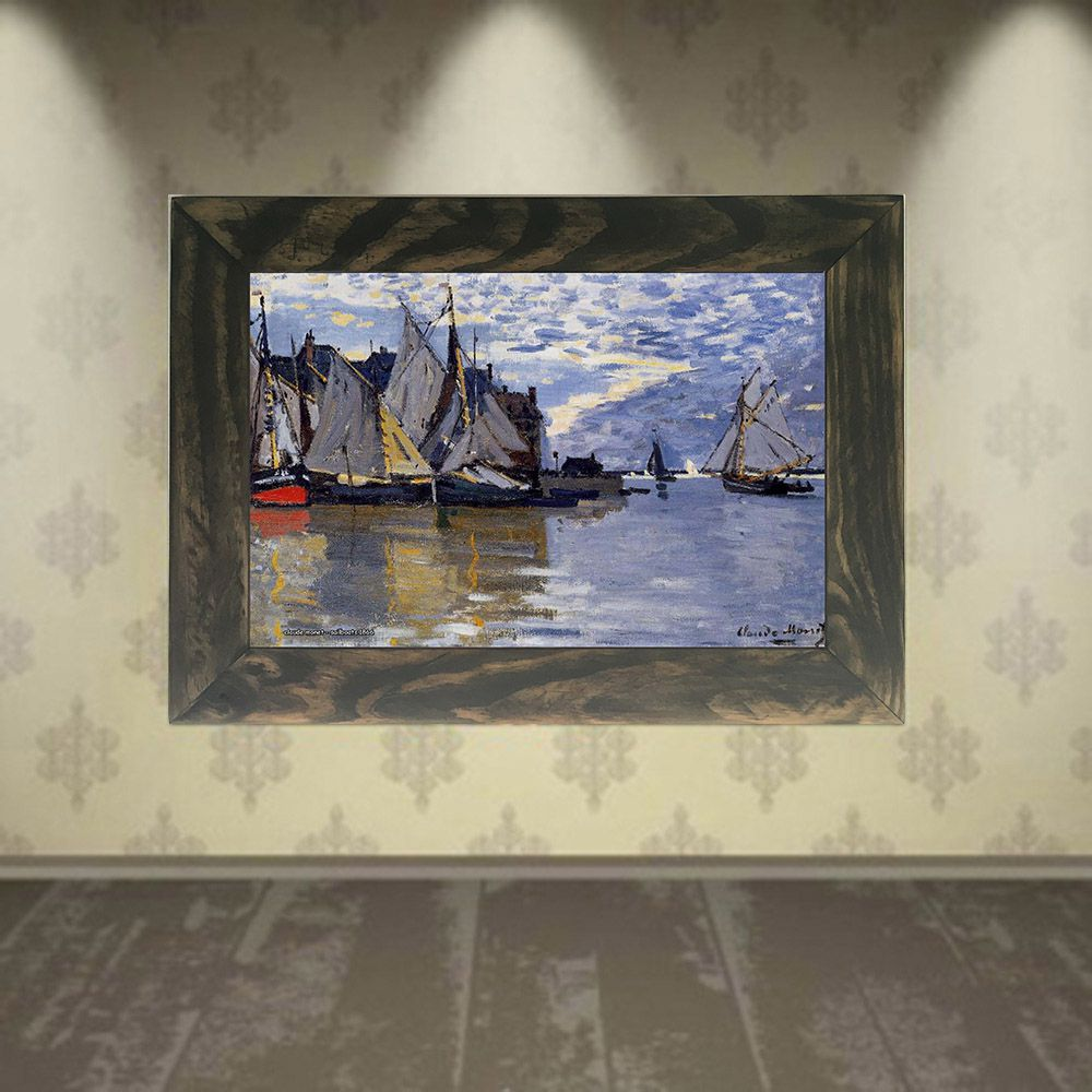 Quadro Decorativo A4 Sailboats 1866 - Claude Monet Cosi Dimora