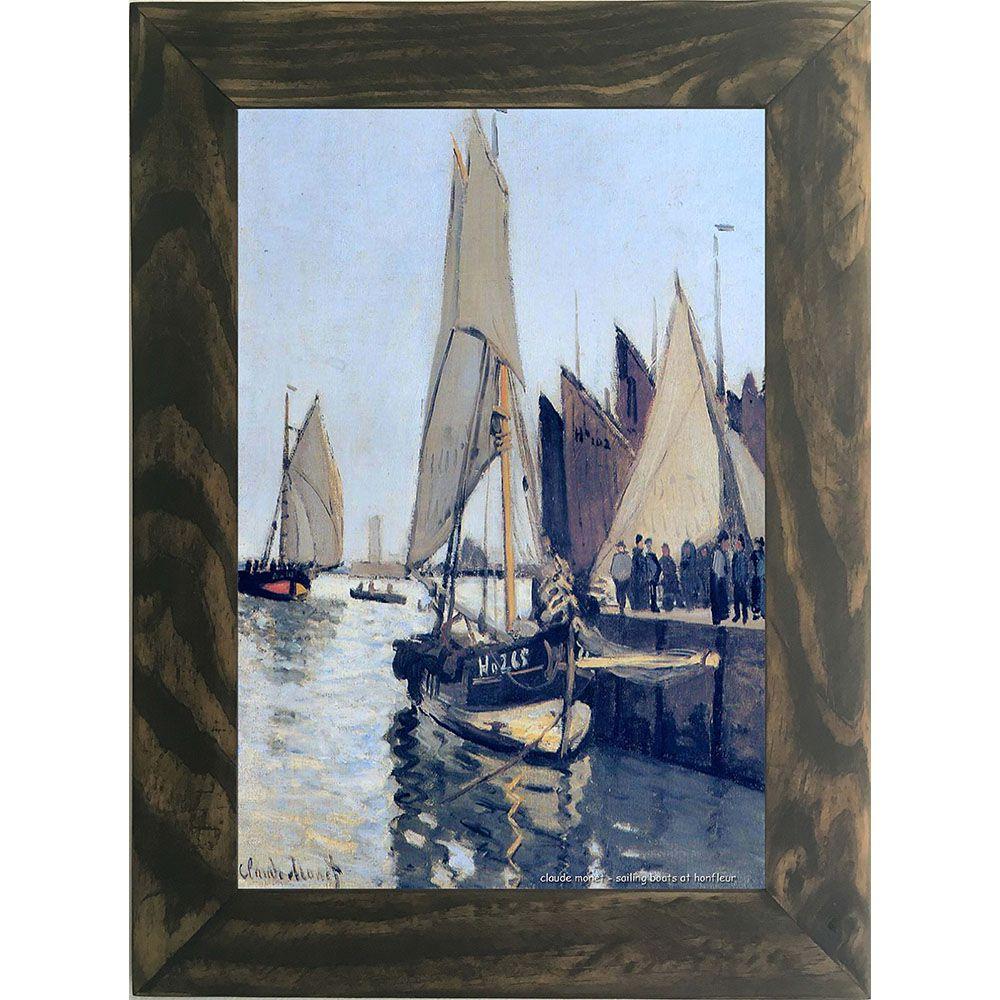 Quadro Decorativo A4 Sailing Boats at Honfleur - Claude Monet Cosi Dimora