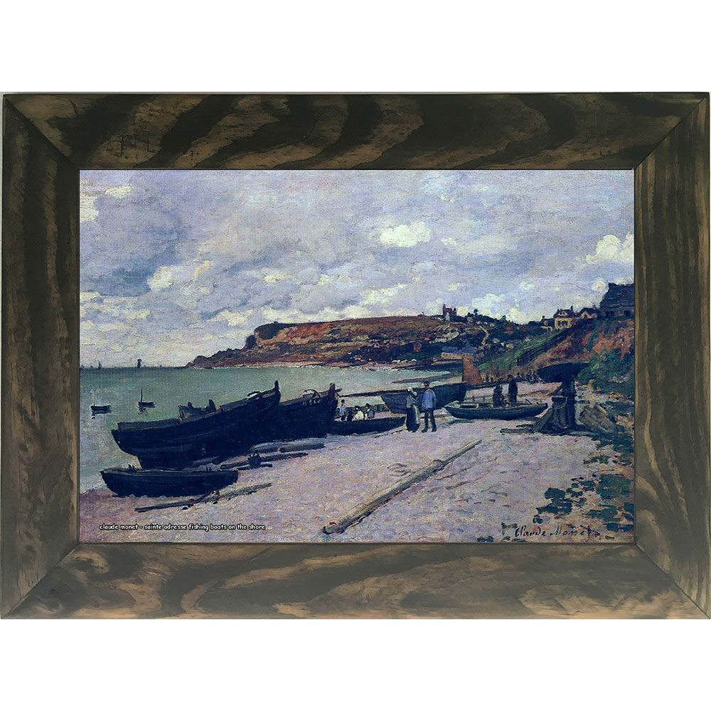 Quadro Decorativo A4 Saint Adresse Fishing Boats on the Shore - Claude Monet Cosi Dimora