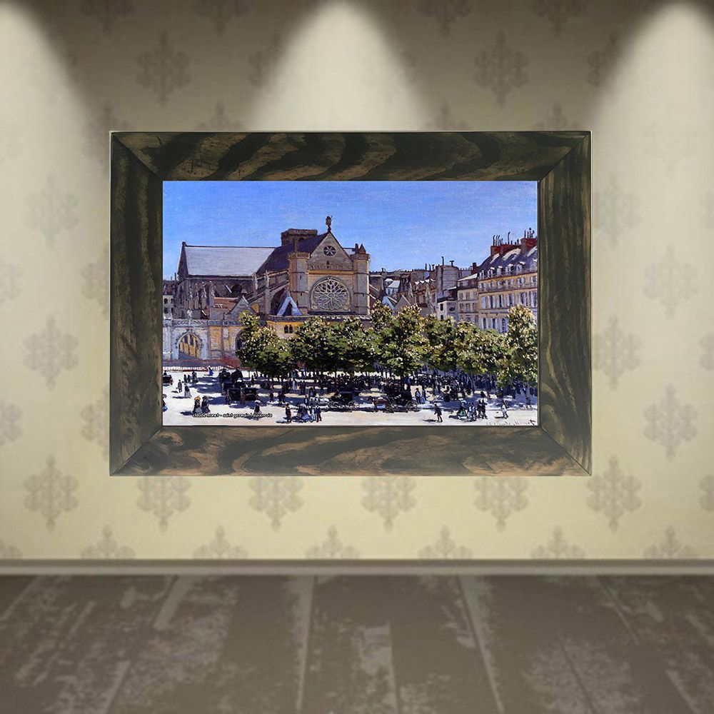Quadro Decorativo A4 Saint Germain l Auxerrois - Claude Monet Cosi Dimora