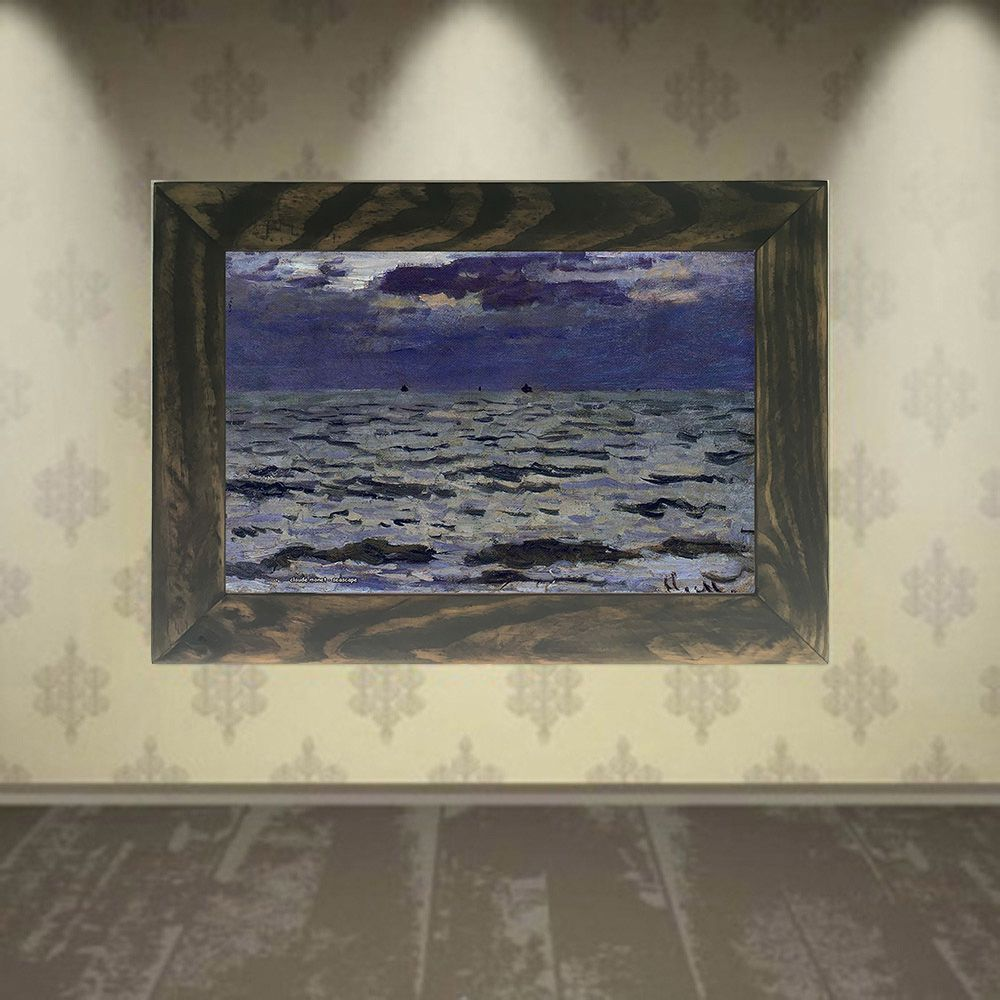 Quadro Decorativo A4 Seascape - Claude Monet Cosi Dimora