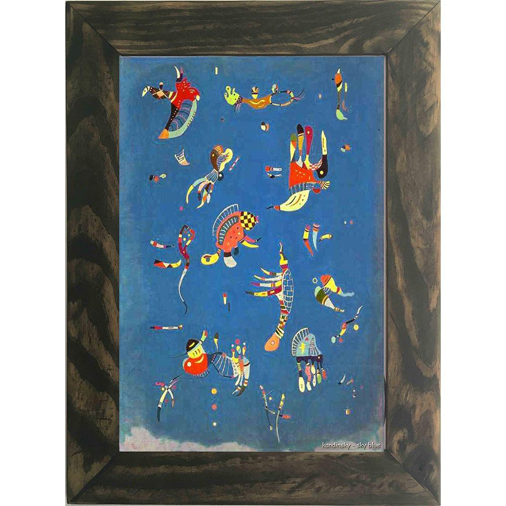 Quadro Decorativo A4 Sky Blue - Kandinsky Cosi Dimora