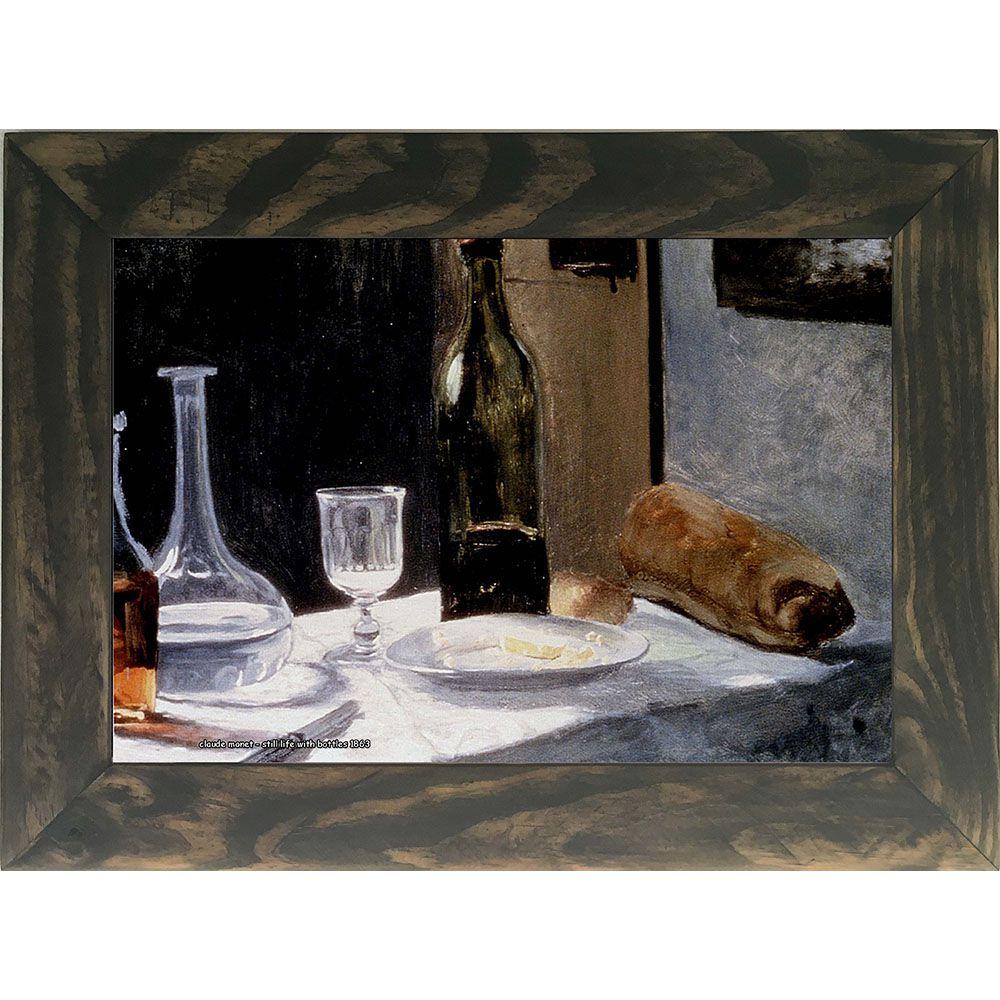 Quadro Decorativo A4 Still Life With Bottles 1863 - Claude Monet Cosi Dimora