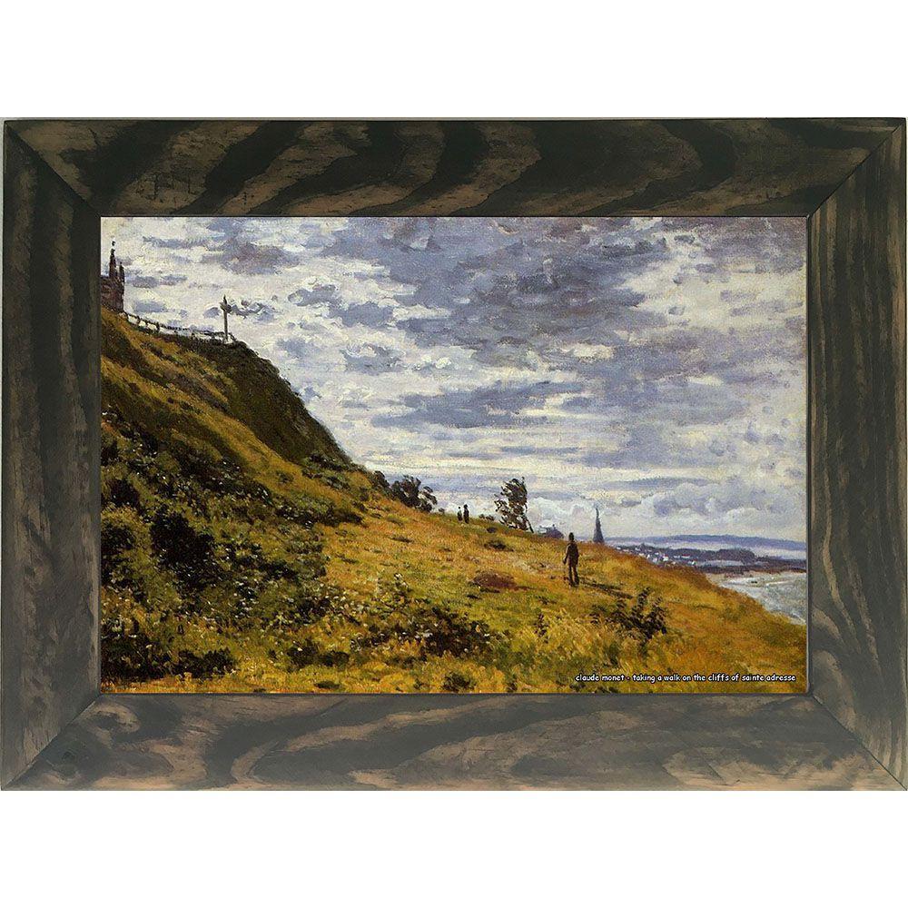Quadro Decorativo A4 Taking a Walk on the Cliffs of Sainte Adresse - Claude Monet Cosi Dimora