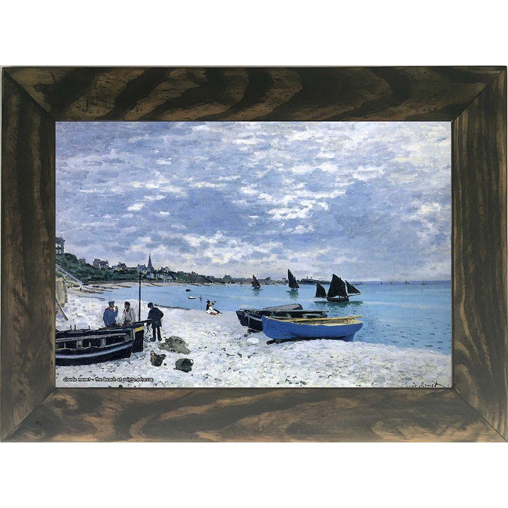 Quadro Decorativo A4 The Beach at Sainte Adresse - Claude Monet Cosi Dimora