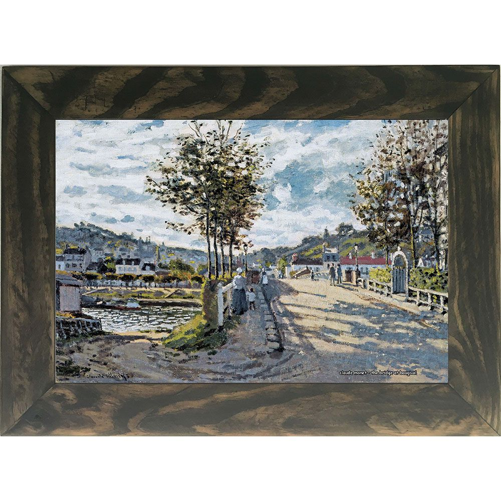 Quadro Decorativo A4 The Bridge at Bougival - Claude Monet Cosi Dimora