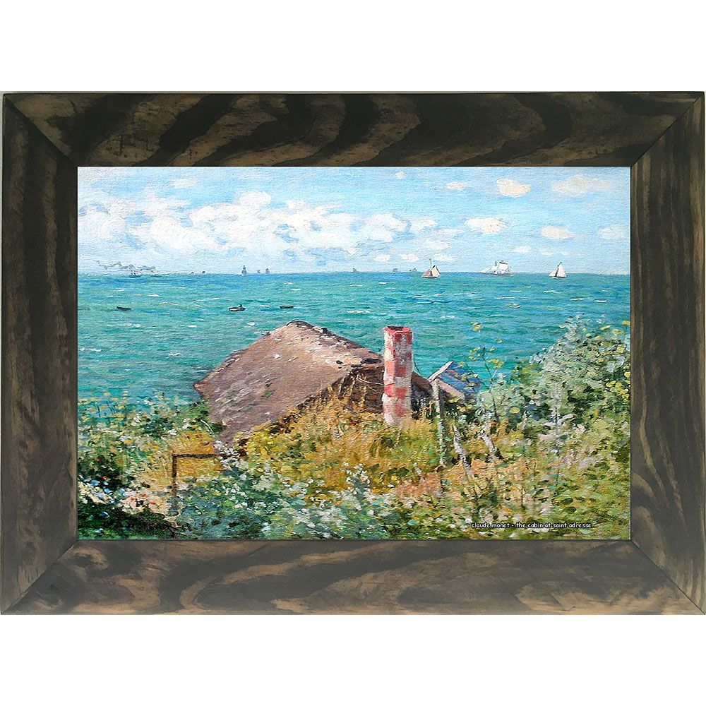 Quadro Decorativo A4 The Cabin at Saint Adresse - Claude Monet Cosi Dimora