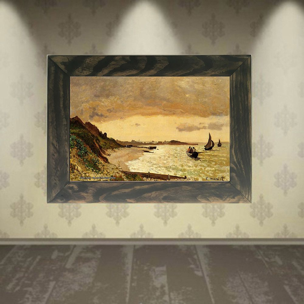 Quadro Decorativo A4 The Coast at Sainte Adresse - Claude Monet Cosi Dimora