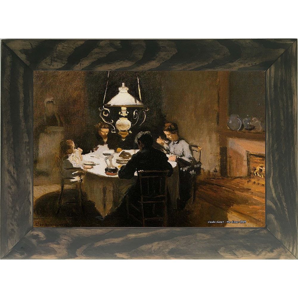 Quadro Decorativo A4 The Dinner 1869 1 - Claude Monet Cosi Dimora