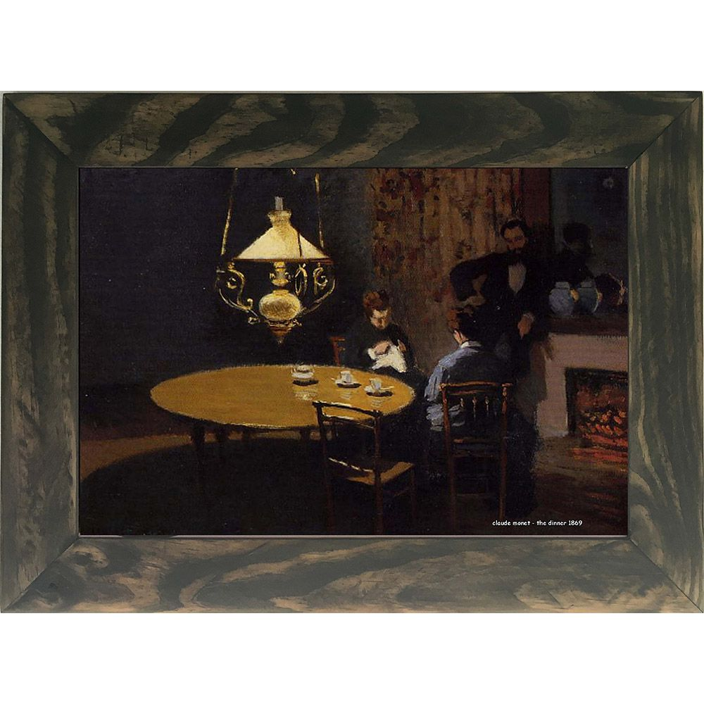 Quadro Decorativo A4 The Dinner 1869 - Claude Monet Cosi Dimora