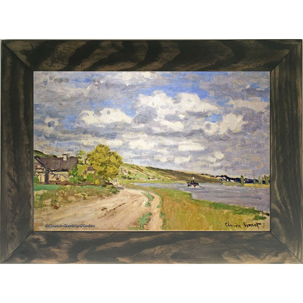 Quadro Decorativo A4 The Estuary of the Siene - Claude Monet Cosi Dimora