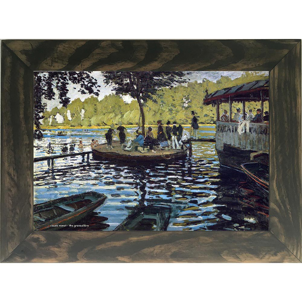 Quadro Decorativo A4 The Grenouillère - Claude Monet Cosi Dimora