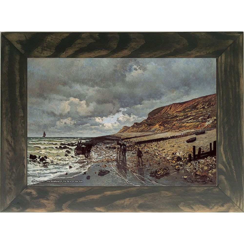 Quadro Decorativo A4 The Headland of the Heve at Low Tide - Claude Monet Cosi Dimora