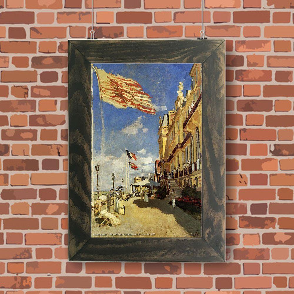 Quadro Decorativo A4 The Hotel des Roches Noires at Trouville 1870 - Claude Monet Cosi Dimora