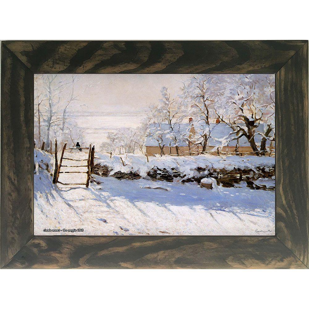 Quadro Decorativo A4 The Magpie 1869 - Claude Monet Cosi Dimora