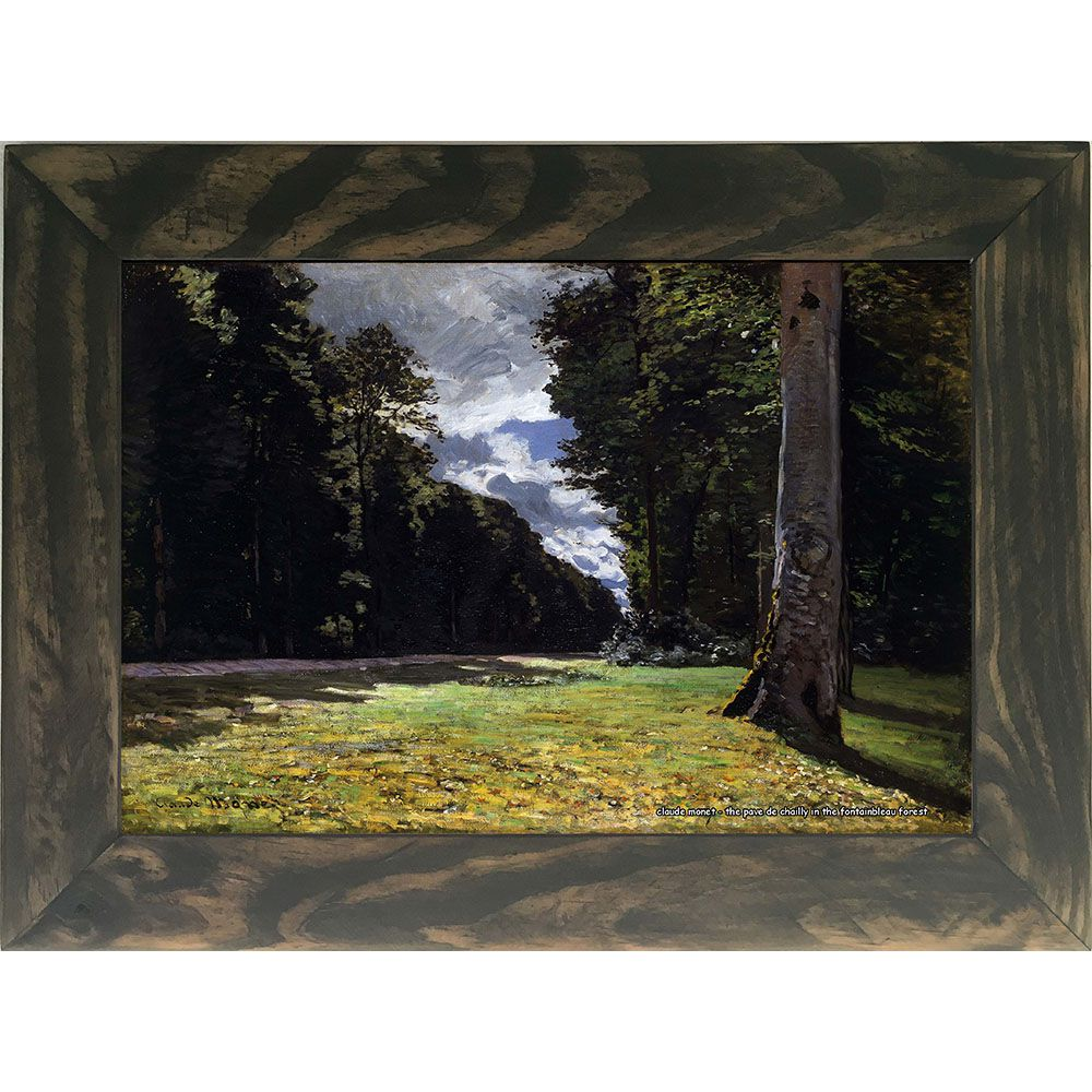 Quadro Decorativo A4 The Pave de Chailly in the Fontainbleau Forest - Claude Monet Cosi Dimora