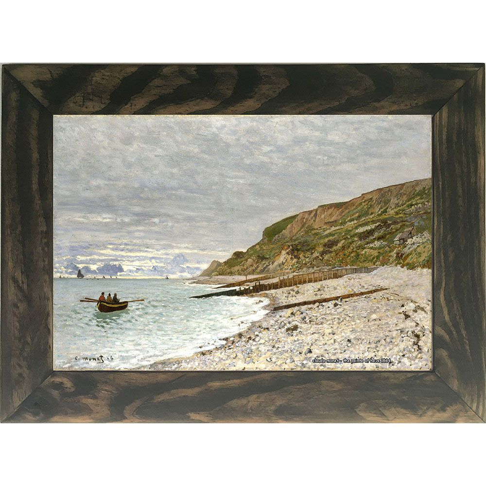 Quadro Decorativo A4 The Pointe of Heve 1864 - Claude Monet Cosi Dimora
