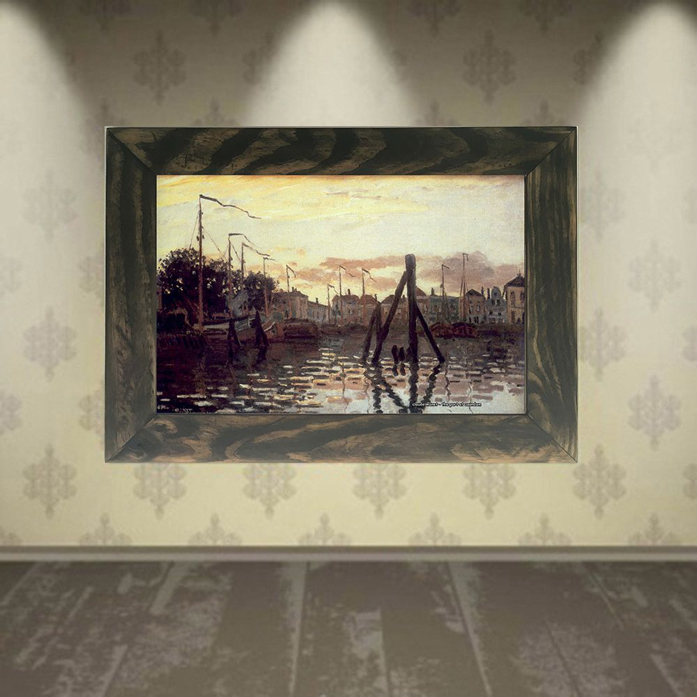 Quadro Decorativo A4 The Port at Zaandam - Claude Monet Cosi Dimora