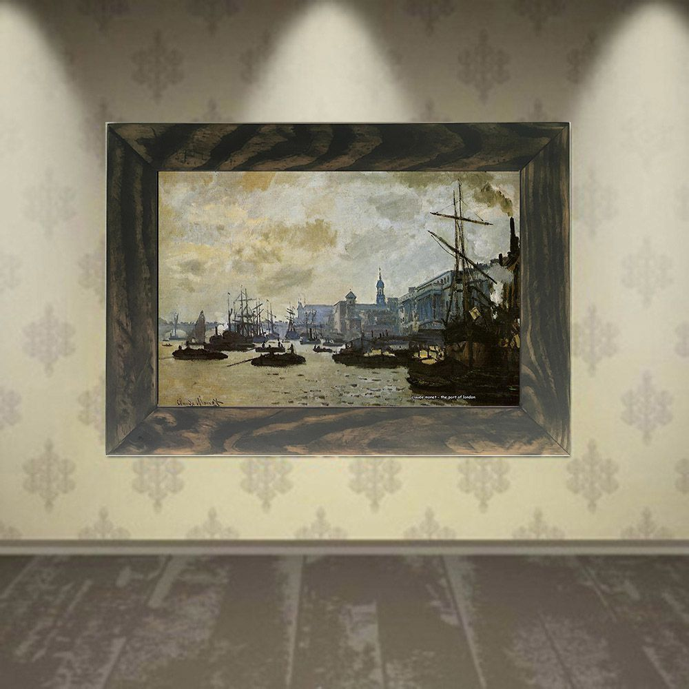Quadro Decorativo A4 The Port of London - Claude Monet Cosi Dimora