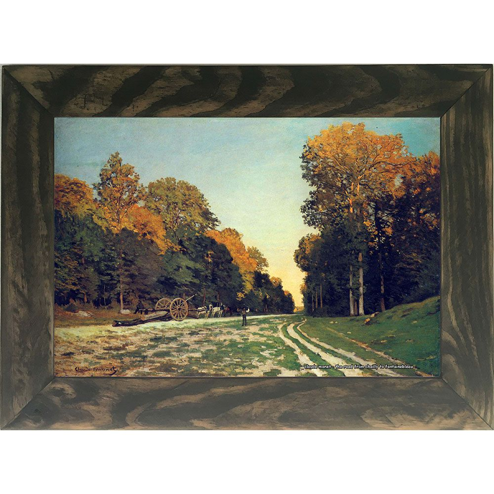Quadro Decorativo A4 The Road From Chailly to Fontainebleau - Claude Monet Cosi Dimora