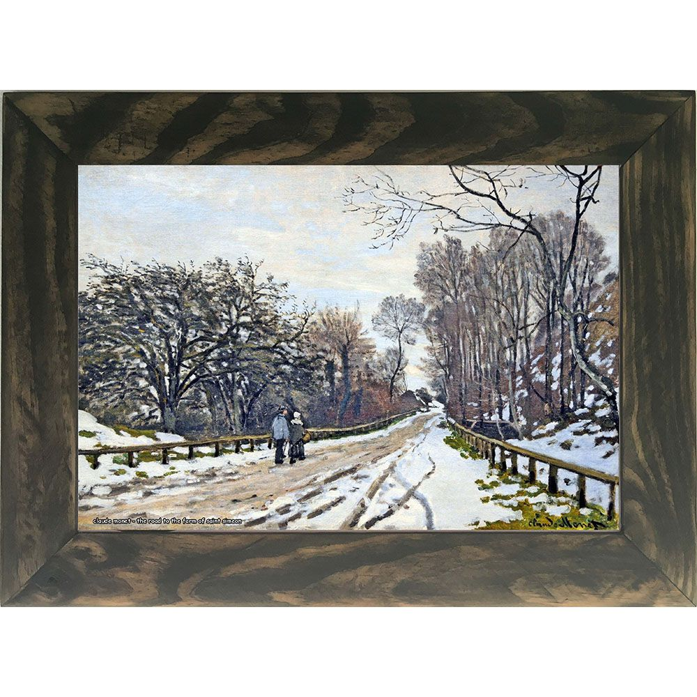 Quadro Decorativo A4 The Road to the Farm of Saint Simeon 1 - Claude Monet Cosi Dimora