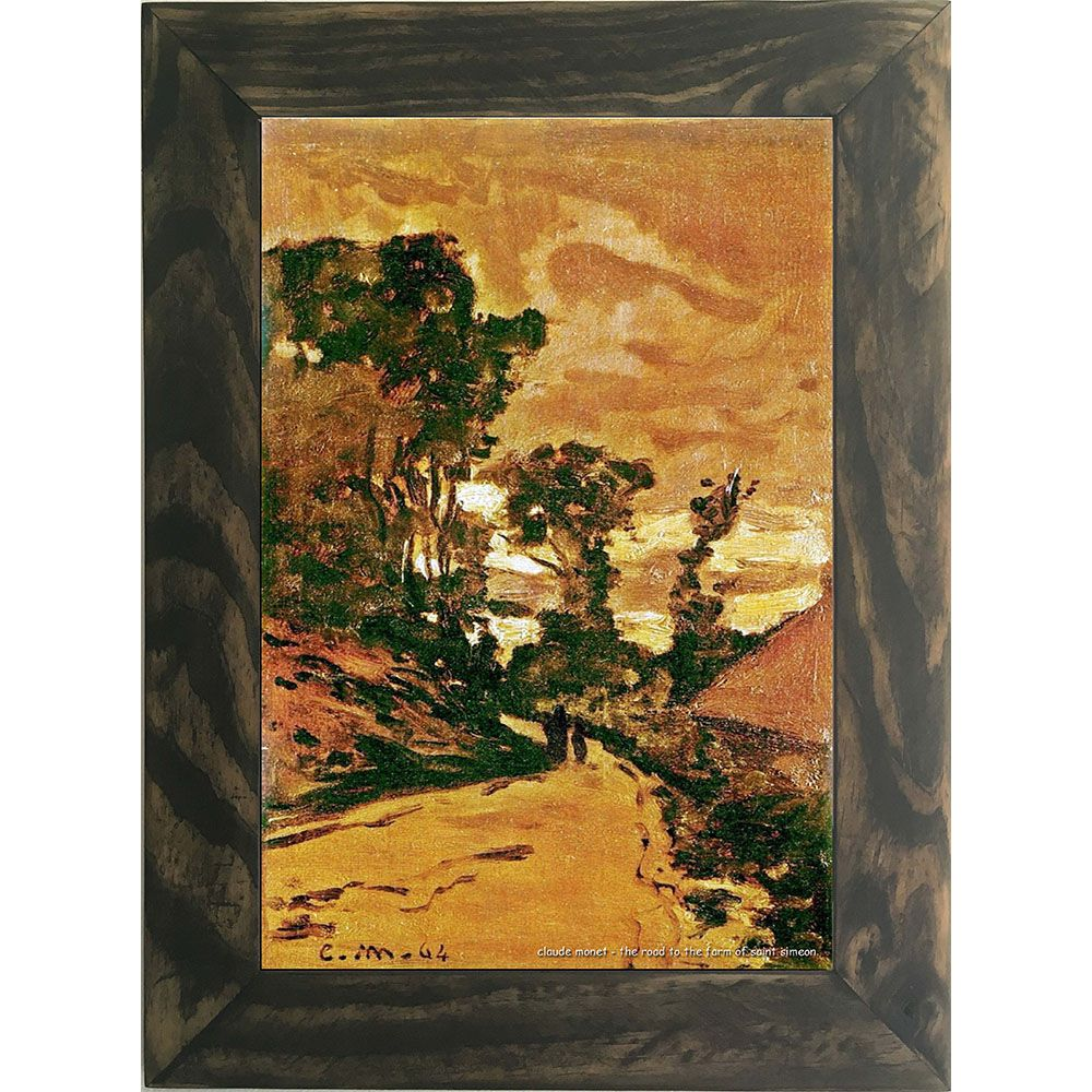 Quadro Decorativo A4 The Road to the Farm of Saint Simeon - Claude Monet Cosi Dimora