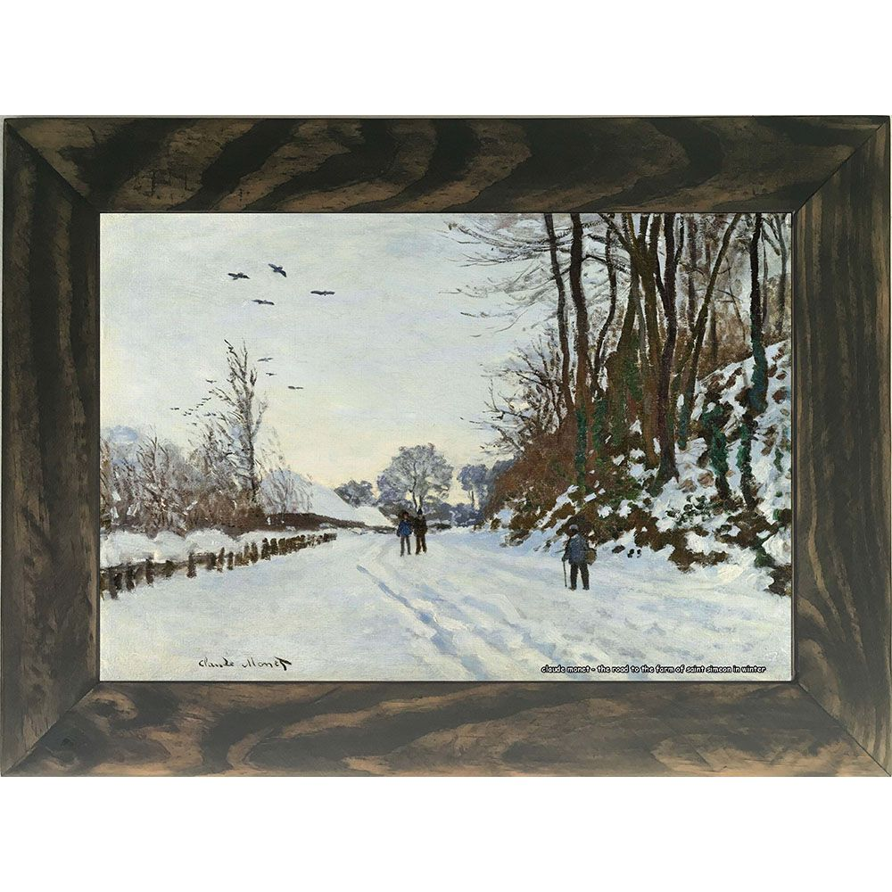 Quadro Decorativo A4 The Road to the Farm of Saint Simeon in Winter - Claude Monet Cosi Dimora