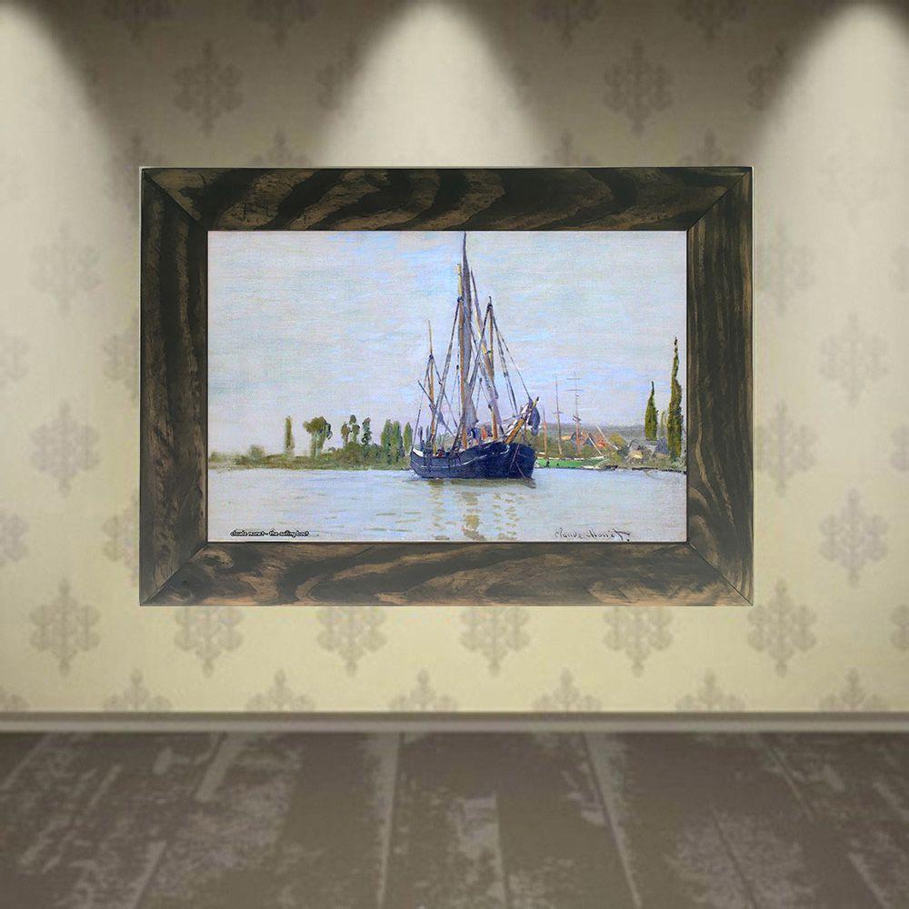Quadro Decorativo A4 The Sailing Boat - Claude Monet Cosi Dimora