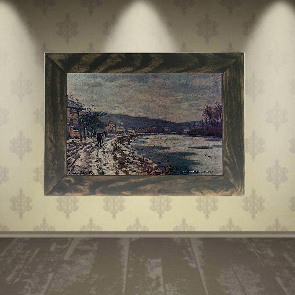 Quadro Decorativo A4 The Seine at Bougival - Claude Monet Cosi Dimora