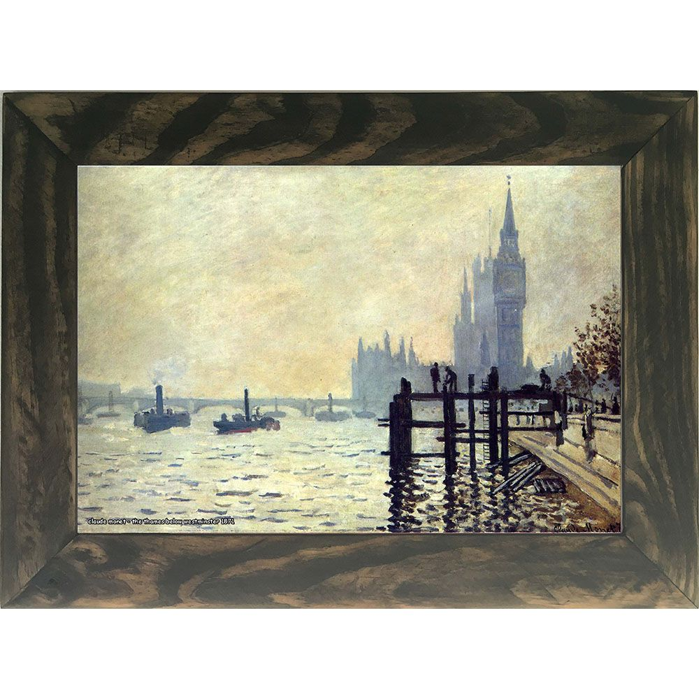 Quadro Decorativo A4 The Thames Below Westminster 1871 - Claude Monet Cosi Dimora