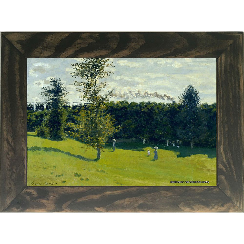 Quadro Decorativo A4 The Train in the Country - Claude Monet Cosi Dimora