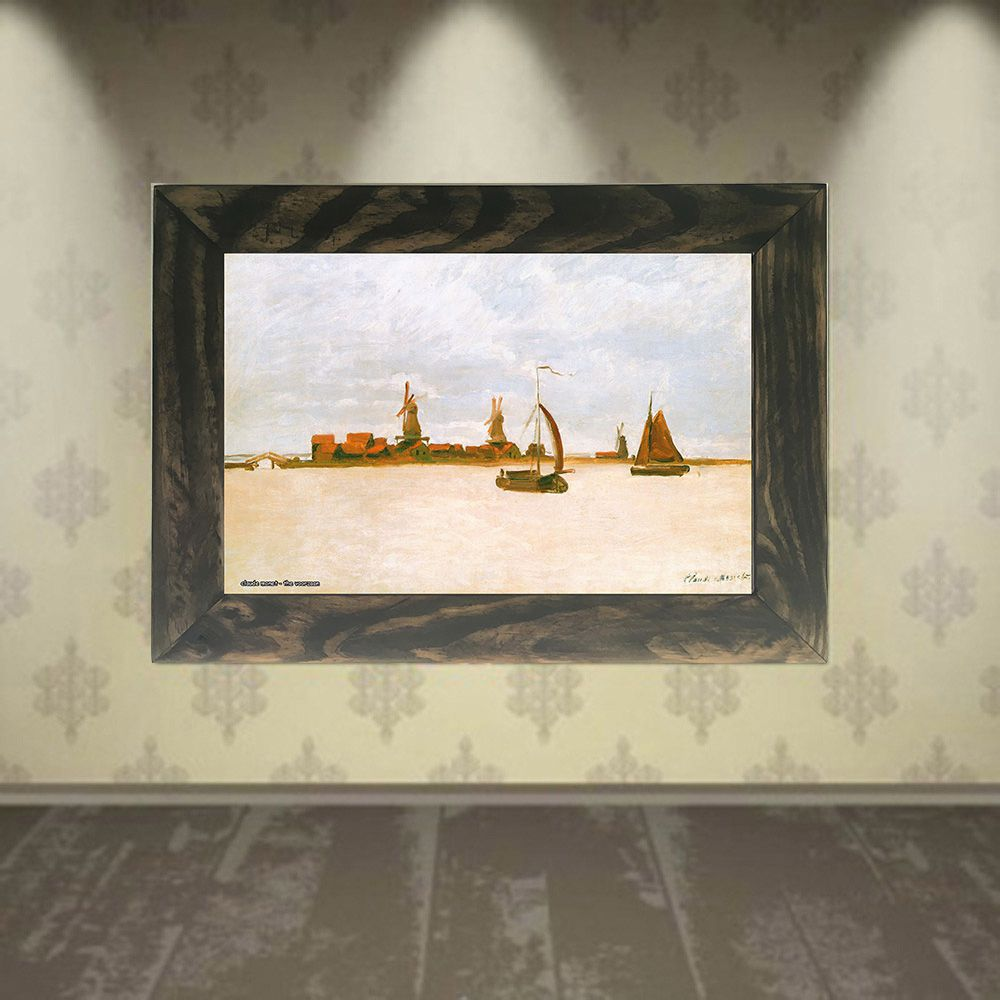 Quadro Decorativo A4 The Voorzaan - Claude Monet Cosi Dimora