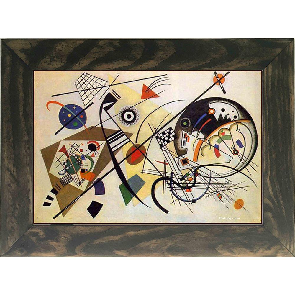 Quadro Decorativo A4 Tr in - Kandinsky Cosi Dimora