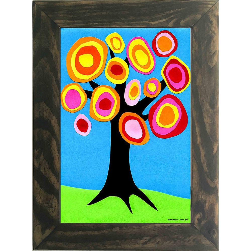 Quadro Decorativo A4 Tree Fall - Kandinsky Cosi Dimora