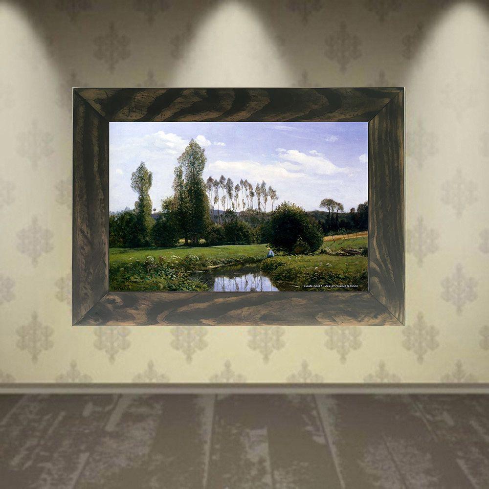 Quadro Decorativo A4 View at Rouelles Le Havre - Claude Monet Cosi Dimora