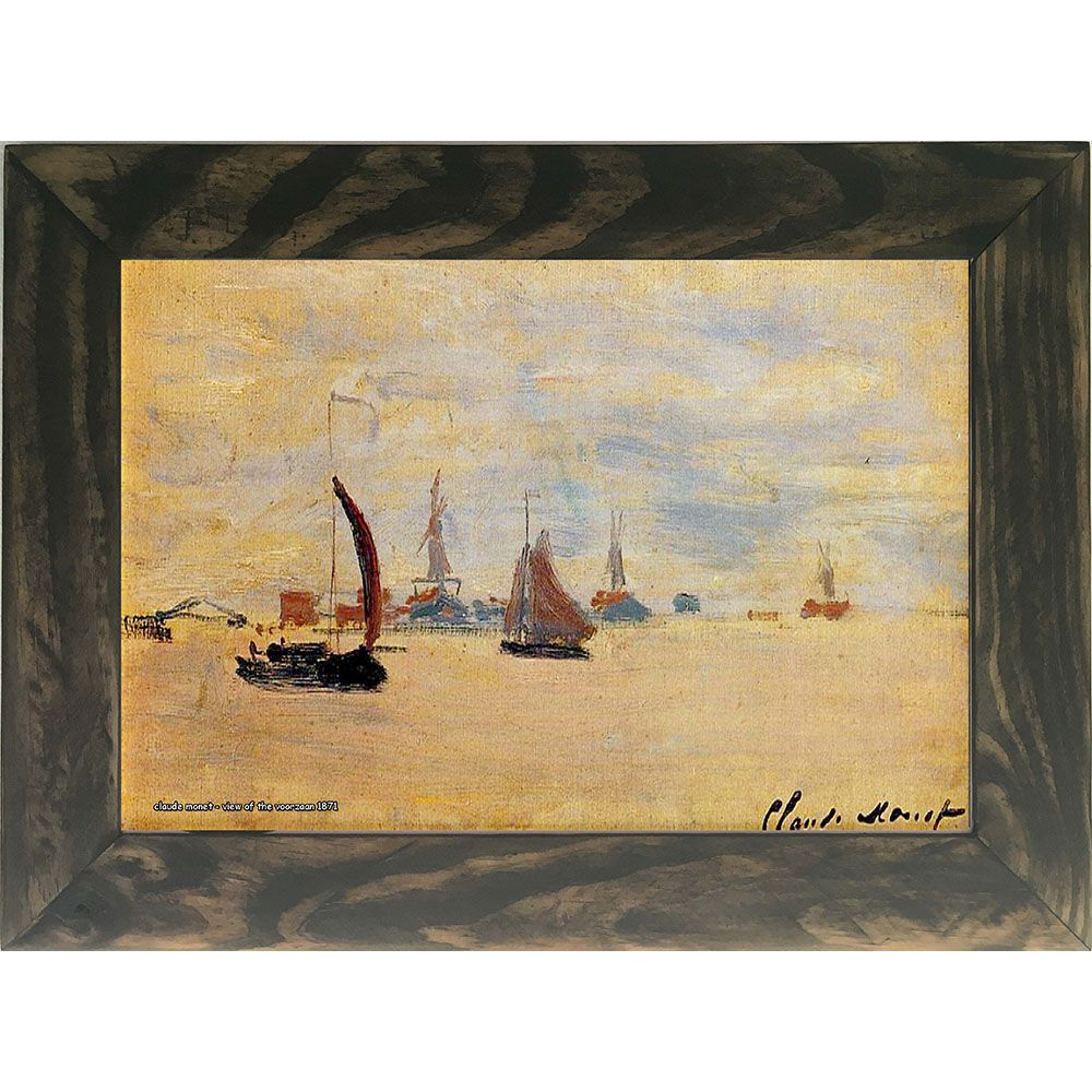 Quadro Decorativo A4 View of the Voorzaan 1871 - Claude Monet Cosi Dimora