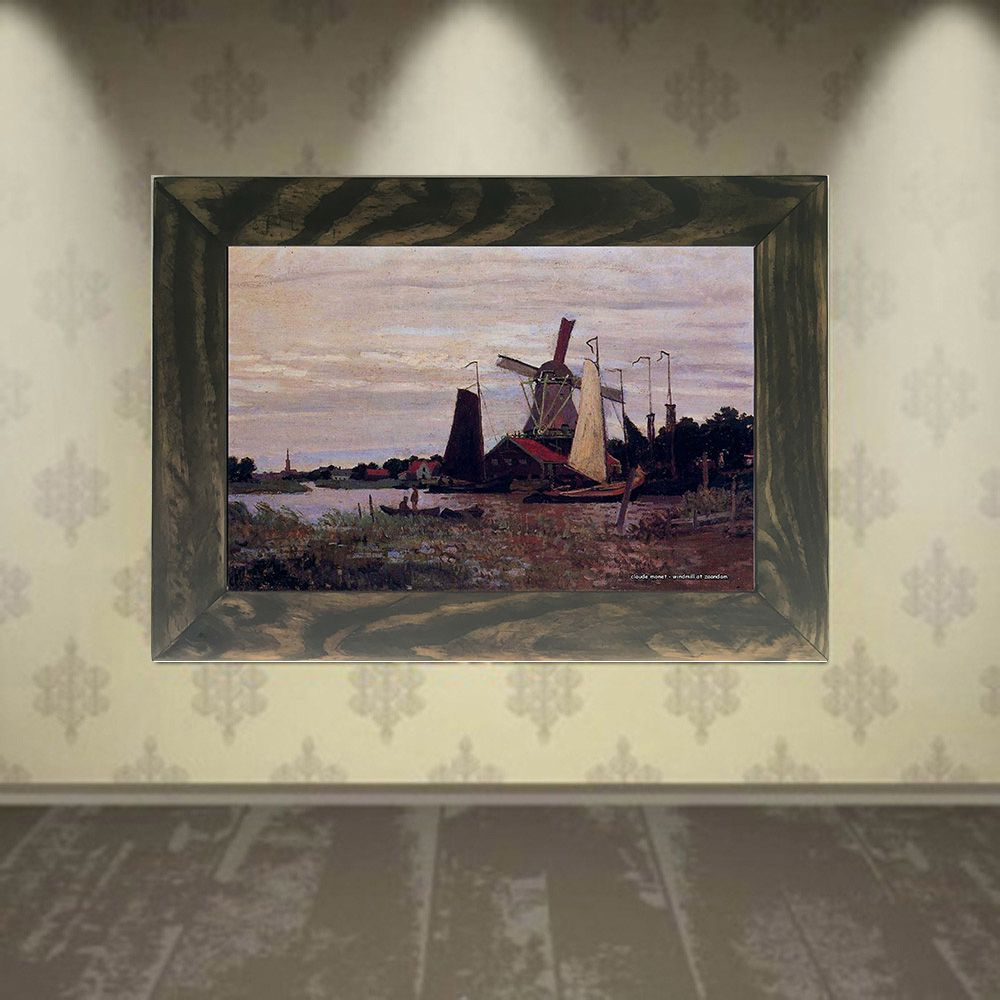 Quadro Decorativo A4 Windmill at Zaandam 1 - Claude Monet Cosi Dimora