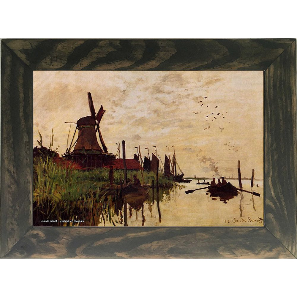 Quadro Decorativo A4 Windmill at Zaandam - Claude Monet Cosi Dimora